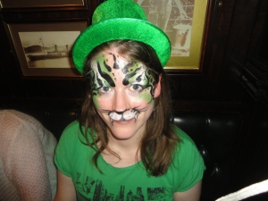 Chloe's St Patrick's Day green tiger