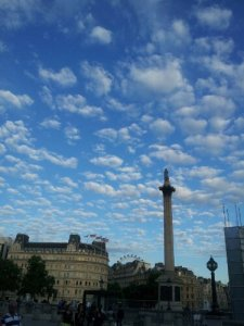 Nelson's Column, London Eye in the background.