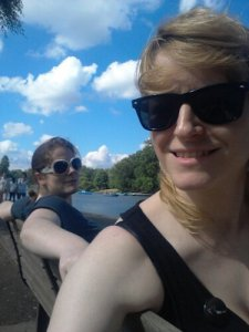 We had to go and drink some vodka in Regent's Park afterwards to calm down before our flight back up to Scottyland