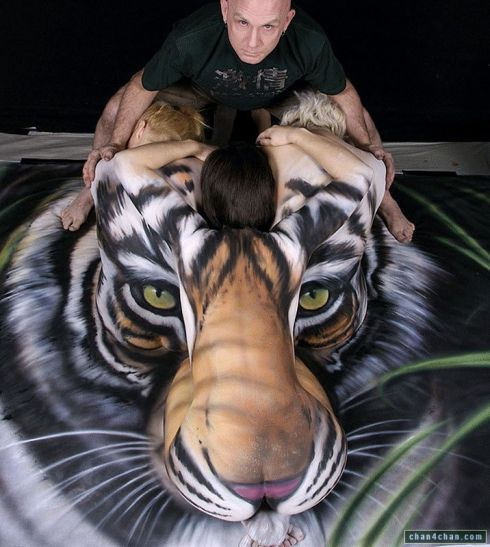 what my tiger bodypainting will not look like